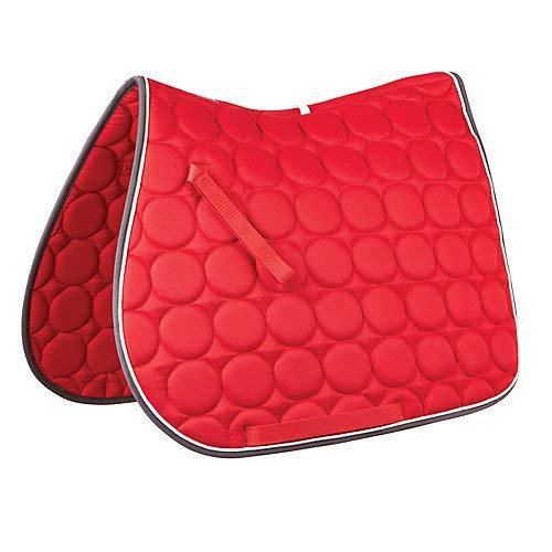 Roma Circle Quilt AP Saddle Pad Red/White/Charcoal (Red Saddle Pad)