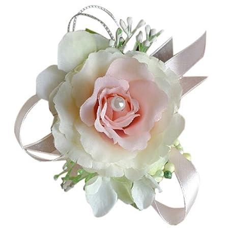 Toogoor Wrist Corsage Bracelet Bridesmaid Hand Flower Wedding