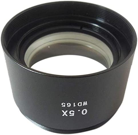 SODIAL Wd165 0.5X Stereo Microscope Auxiliary Objective Lens Barlow Lens with 1-7//8 M48Mm Mounting Thread