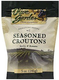 Olive Garden's Seasoned Croutons - Garlic & Ramono - 5 Oz./bag - 2 Bag Pack! ()