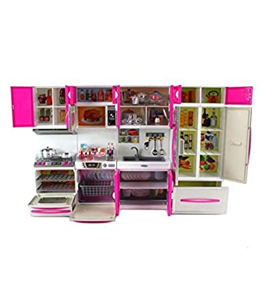 Buy Tread Mall Barbie Dream House Kitchen Set Light Sound Cooking Kitchen Set Play Toy Online At Low Prices In India Amazon In