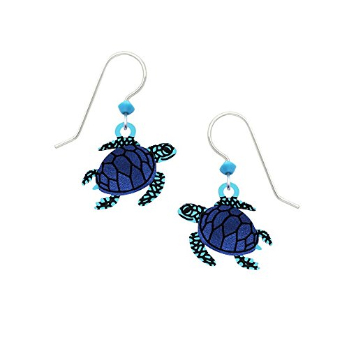 - Sienna Sky Artisan Blue Sea Turtle with Dark Blue Earrings with Gift Box