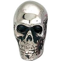 METAL SKULL KNOB .875 x1.5x1.75 +Screw (4, Silver)