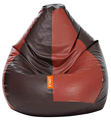 ORKA Classic XXL Bean Bag Cover Without Beans   Brown, Tan