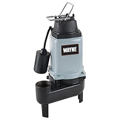 Wayne WCS50T Cast Iron Sewage Pump with Tether Float Switch