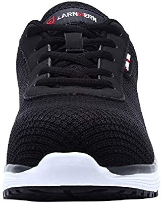 Safety Shoes for Women L-8038 SRC Steel Toe Work Shoes Ultra Lightweight Breathable Slip Resistant Sneakers