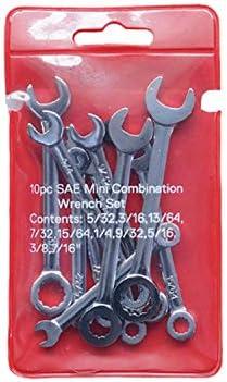 Mini-Einsatz mit 10 Schrauben für verschiedene Reparaturen Polierter, langlebiger Taschenschlüssel,Einfach zu bedienen (Size : British system)