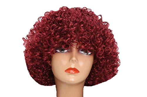 Unisex Clown Wig Circus Funny Fancy Party Dress Accessory Afro Stag Do Fun Joker (Deep -