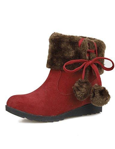 XZZ  Damenschuhe - Stiefel - Kleid   Party & Festivität - Vlies - Keilabsatz - Modische Stiefel - Schwarz   Braun   Rot B01L1GTJOO Sport- & Outdoorschuhe Hohe Qualität und günstig