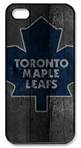LZHCASE Personalized Protective Case for iPhone 5 - Toronto Maple Leafs in Wood Background