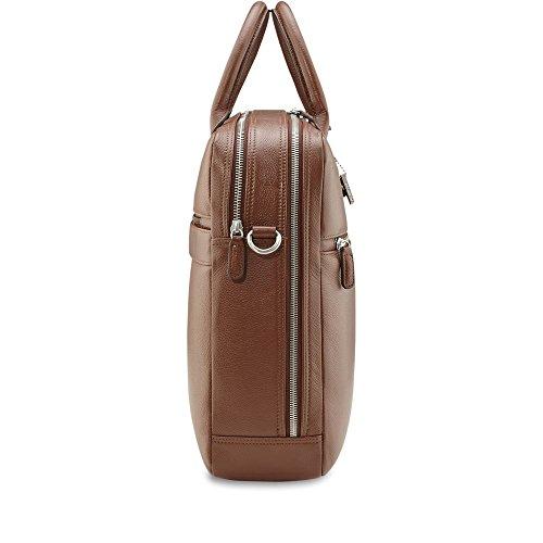 Picard Milan 8083 cognac, Leder Aktentasche Umhängetasche Henkeltasche mit Laptopfach Tasche Ledertasche Businesstasche Notebooktasche