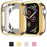 for Apple Watch 4 Case 40mm, Slim Scratch Resistant Soft Back Case for Apple Watch Series 4 (40mm), Transparent, Gold,