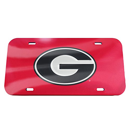 Georgia Bulldogs Logo Plate (NCAA Georgia Bulldogs Logo Crystal Mirror License Plate, 6 x)