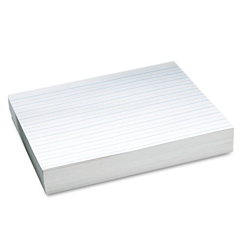 Pacon 2622 Ruled Newsprint Practice Paper, No Skip Space, 2nd Grade, White, 500 Sheets/Ream (500 SH),3/4'