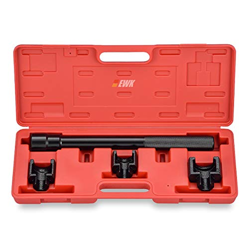 EWK Dual Inner Tie Rod Removal Tool Set with 3 Adapters 1-3/16 1-5/16 1-7/16 Inch for GM Ford ()