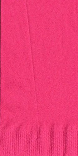 200 Hot Pink Dinner / Hand Towel Napkins Plain Solid Colors