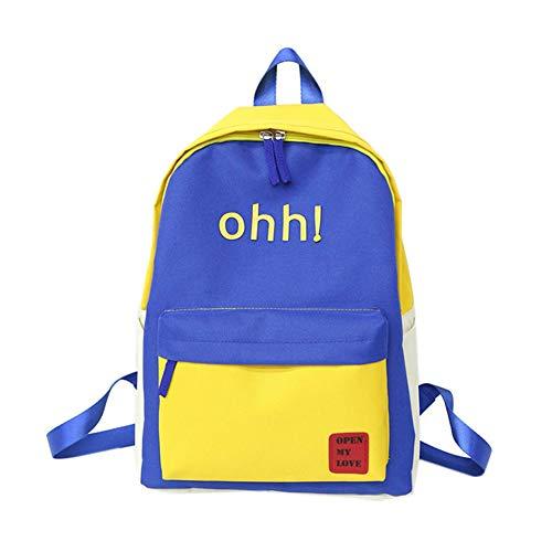 Casual Bolsa Escuela Capacidad Mochila Viajes Blue Cremallera Gran Majome Chicas para Estudiantes q8nfwSAF