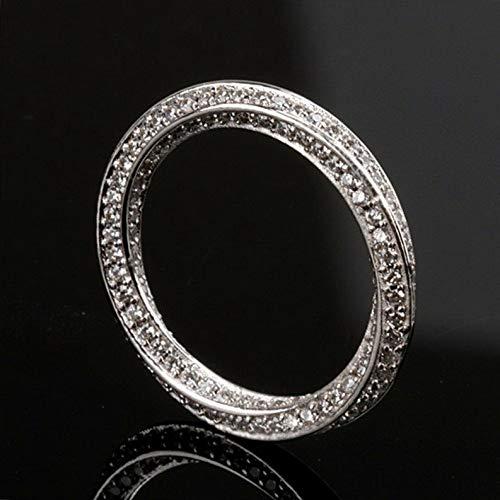 Tomikko Mobius Ring Eternity Bent Band Cz 925 Silver Men Women Wedding Engagement Sz 5-9 | Model RNG - 24122 | -