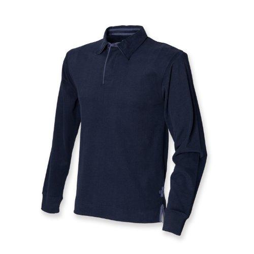 Front Row - Polo - para hombre azul marino