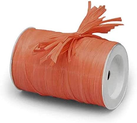 Party Decor Natural Farms Gift Packaging 1//4 x 100 yd DIY Home projections Coral Matte Raffia Ribbon