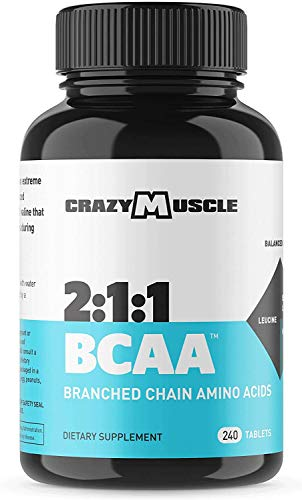 3000mg BCAA Pills (2 Month Supply) with The Optimum 2:1:1 Ratio of Branched Chain Amino Acids Supplements for Recovery and Muscle Growth - 1000mg BCAAs per Pill (More Than BCAA Capsules) - 240 Tablets