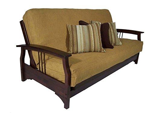 Strata Furniture Fremont Dark Cherry Full Wall Hugger Futon Frame