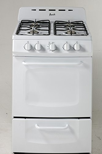 "Amazon.com: Avanti gr024pow 24"" no empotrado Gas Range ..."