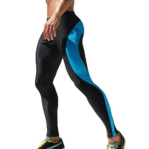 Hombres Verano Los Color Fáciles Blau Pantalones Ocio De Sólido Sueltos Capri Harén Battercake Del Respirables La Cortos Manera Cómodo HPR04q