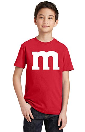 Promotion & Beyond M Halloween Team Costume Funny Party Youth T-Shirt, Youth L, Red -