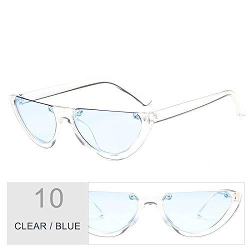 Vintage Negro claro sol Blue de mujeres de Sunglasses Clear ojo gafas TL Gafas de personalidad gato P78AWqpw
