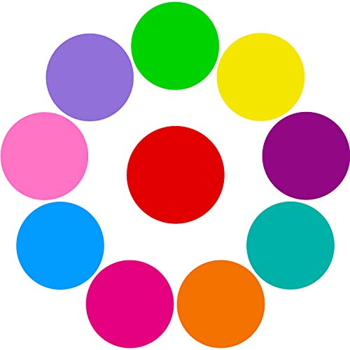 Tatuo 10 Pieces Colorful Dry Erase Circles White Board Marker Removable Vinyl Dot Wall Decal for Drills and Training School Teaching Progress (11.8 inch) by Tatuo