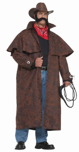 Forum Novelties Men's Plus-Size Extra Big Fun Tex Costume Duster Coat, Brown, 3X-Large