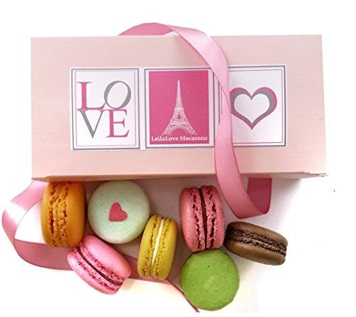 LeilaLove Macarons - 6 Macarons - Love in Paris by LeilaLove,Inc