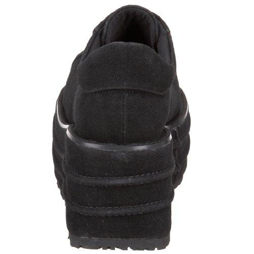 de para Brogue 08 Tempo Cordones Zapatos Mujer Negro Demonia wCBOPxqq