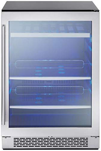 - Zephyr PRB24C01AG 24 Inch 5.3 cu. ft. Capacity Freestanding or Built In Full Size Beverage Center with Reversible Door in Stainless Steel