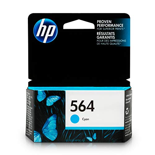 HP 564 Ink Cartridge Cyan (CB318WN) for HP Deskjet 3520 3521 3522 3526 HP Officejet 4610 4620 4622 HP Photosmart: 5510 5512 5514 5515 5520 5525 6510 6512 6515 6520 6525 7510 7515 7520 7525 B8550 ()