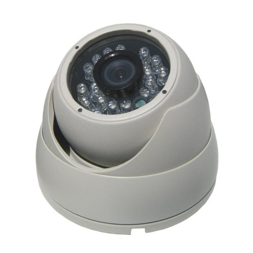 (Avemia U.S.A, Inc. IC10056 Avemia Nightvision Indoor/Outdoor Dome camera, 1/3-Inch Sharp CCD, 700 TV Lines, 3.6mm Lens with 24-Pieces LEDs, 3-Axis Positions (Beige))