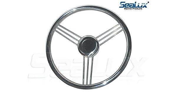 13-1//2/'/' 9 Spoke 304 Stainless Steel Marine Boat Steering Wheel Dish 15°  Unique