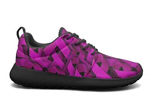 (Pink Ribbon Women's Lightweight Running Shoe Sports Shoe)