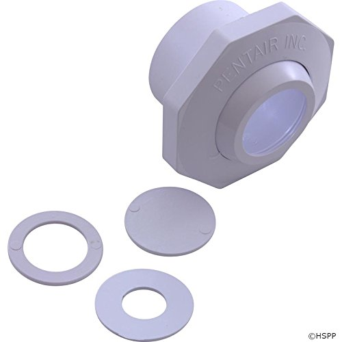 Pentair 542002 1-1/2-Inch Economy Insider Slip Inlet with Snap-in and Pressure Test Disks, White