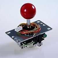 SANWA JLF-TP-8YT-SK OEM Red Ball Top Handle Arcade...