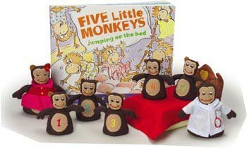 Monkeys Jumping on The Bed Props & Book Set ()