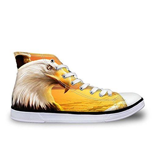 Per Te Disegni 3d Zoo Animali Modello Appartamenti Sneakers Per Uomo Scarpe Di Tela C4036ak