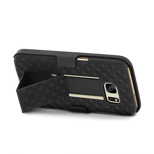 Galaxy S7 Case, Aduro Shell & Holster COMBO Case Super Slim Shell Case w/Built-In Kickstand + Swivel Belt Clip Holster for Samsung Galaxy S7 by Aduro (Image #4)