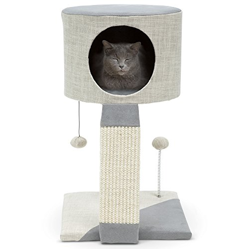 Practical Cats Stylish Minimalist Kitten Condo Scratching Post Cat Bed