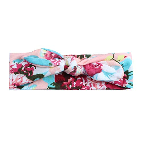 Dongtu 1 Piece Kids Fashion Cute Floral Printed Headwear Knotted Rabbit Ears Baby Headband Hair Accessories