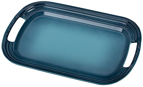 Le Creuset Stoneware 16'' Oval Serving Platter, Marine by Le Creuset