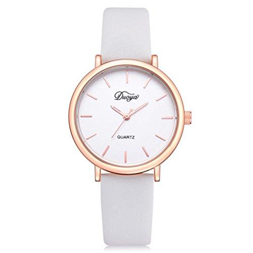 Auwer Men's Quartz Wristwatch, Fashion Women Men Couple Watch Rounded Colorful Analog Pointer Quartz Wrist Watch (White)