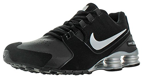 Nike Shox Avenue Leather Mens Running Shoes Sneakers Black Size 10.5