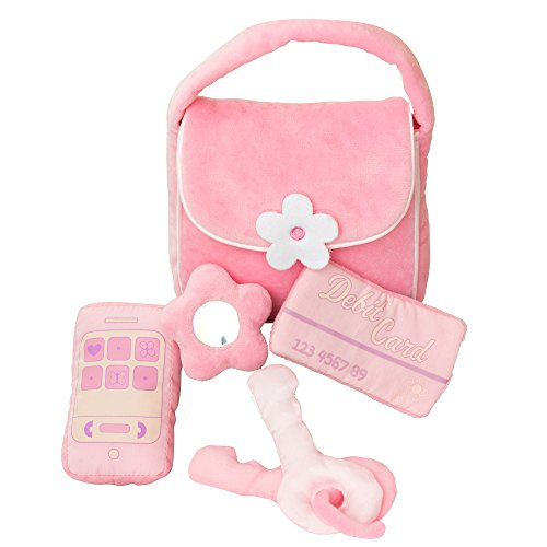 - GiftsForYouNow Plush Baby Toy Purse - Pink Polyester - Machine Washable